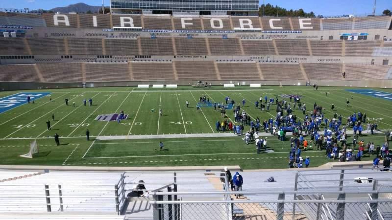 Falcon Stadium, section: M22, row: L, seat: 33