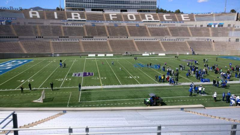 Falcon Stadium, section: M23, row: S, seat: 15