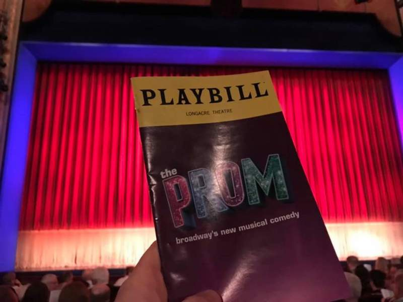 Seating view for Longacre Theatre Section Orchestra C Row J Seat 112