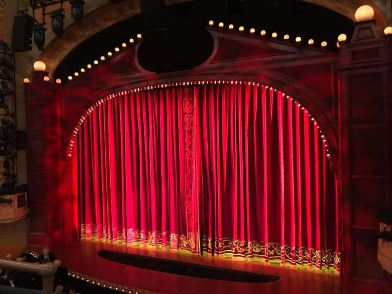 Seating view for Shubert Theatre Section Mezzanine R Row C Seat 8