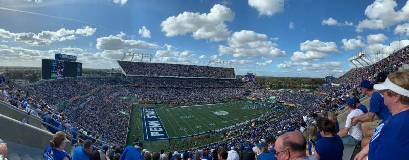 Seating view for Camping World Stadium Section 214