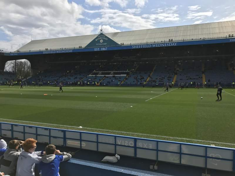 Seating view for Hillsborough Stadium Section North stand T1 Row 5 Seat 201