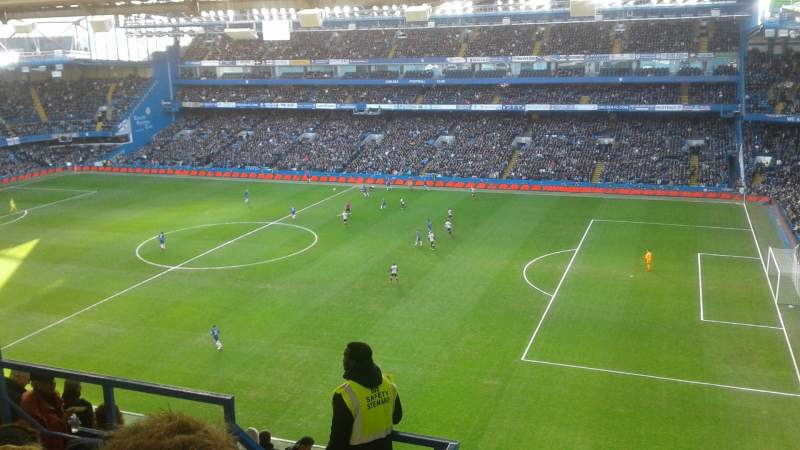 Seating view for Stamford Bridge Section East Stand Upper 7 Row 18 Seat 0005