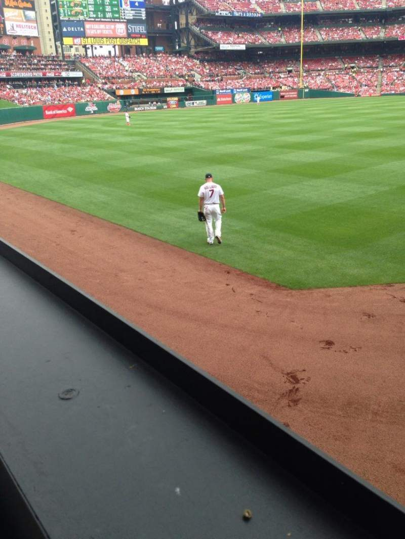 Seating view for Busch Stadium Section 170 Row 1 Seat 3