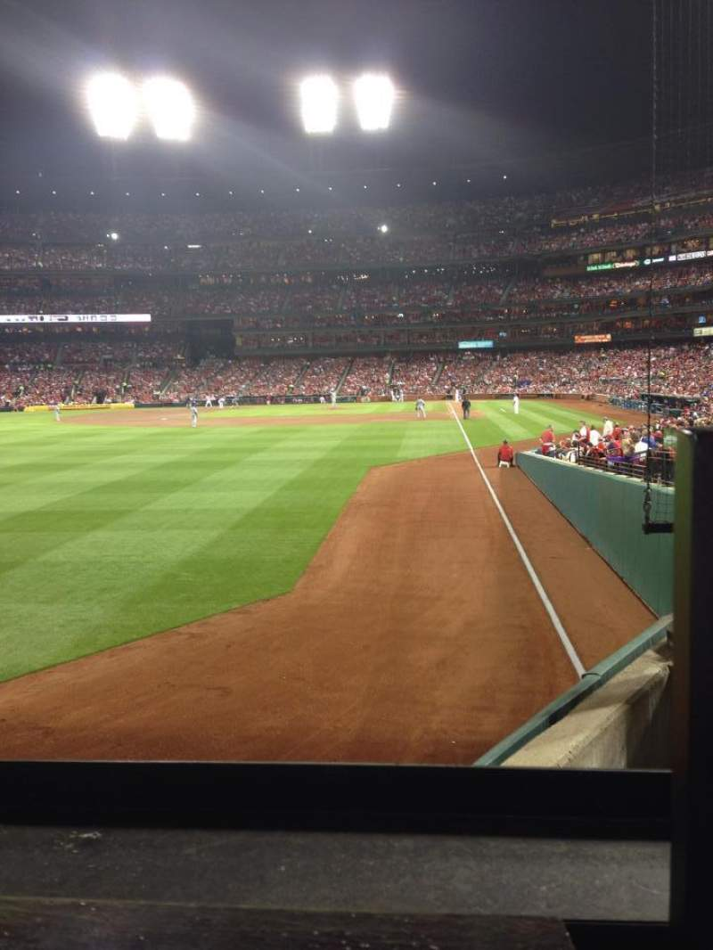 Seating view for Busch Stadium Section 170 Row 1 Seat 4