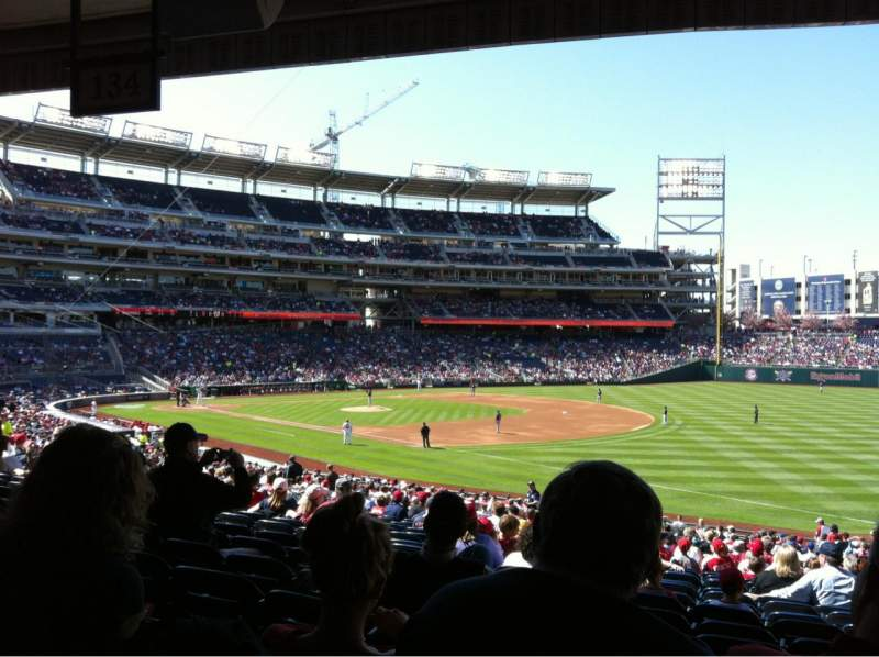 Seating view for Nationals Park Section 134 Row SS Seat 6