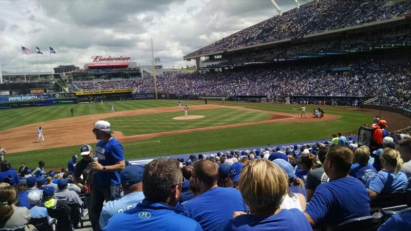 Seating view for Kauffman Stadium Section 120 Row x Seat 1