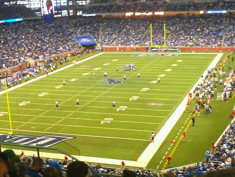 Seating view for Ford Field Section 321 Row 16 Seat 10