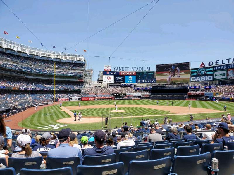 Seating view for Yankee Stadium Section 118 Row 12 Seat 6