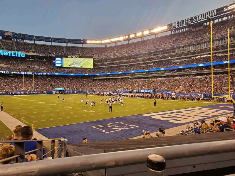 Seating view for MetLife Stadium Section 104 Row 10 Seat 20