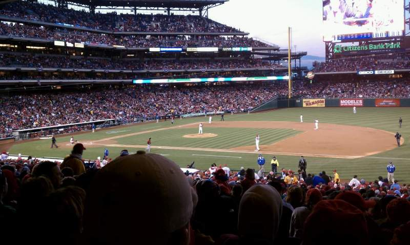 Seating view for Citizens Bank Park Section 114 Row 39 Seat 10