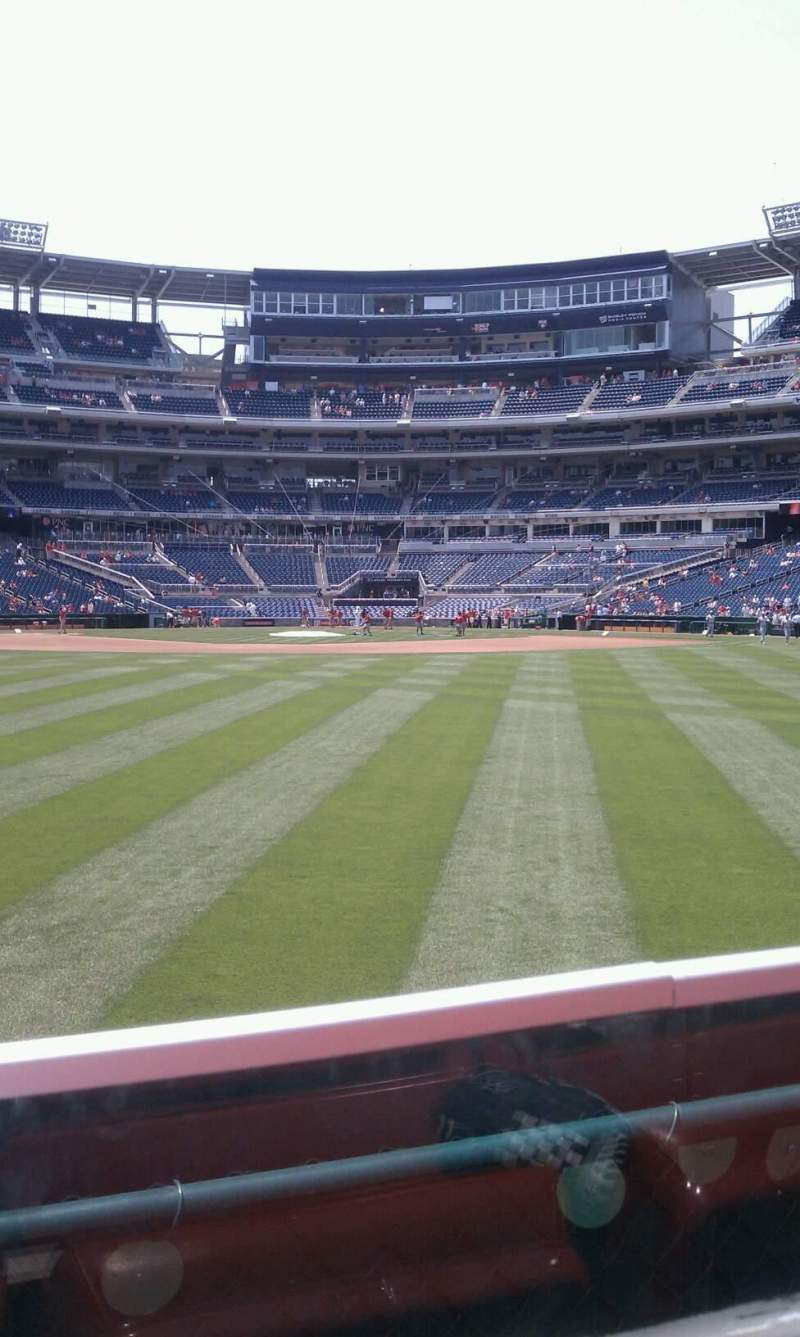 Seating view for Nationals Park Section 100 Row A Seat 18