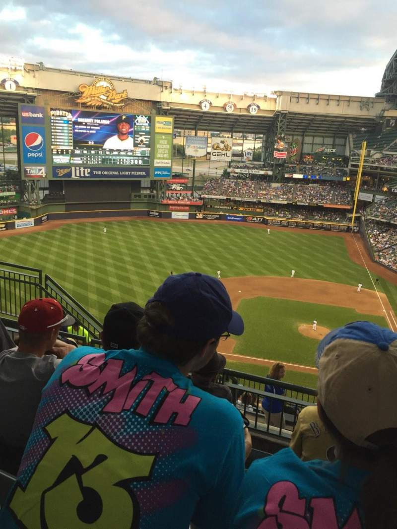 Seating view for Miller Park Section 428 Row 12 Seat 11