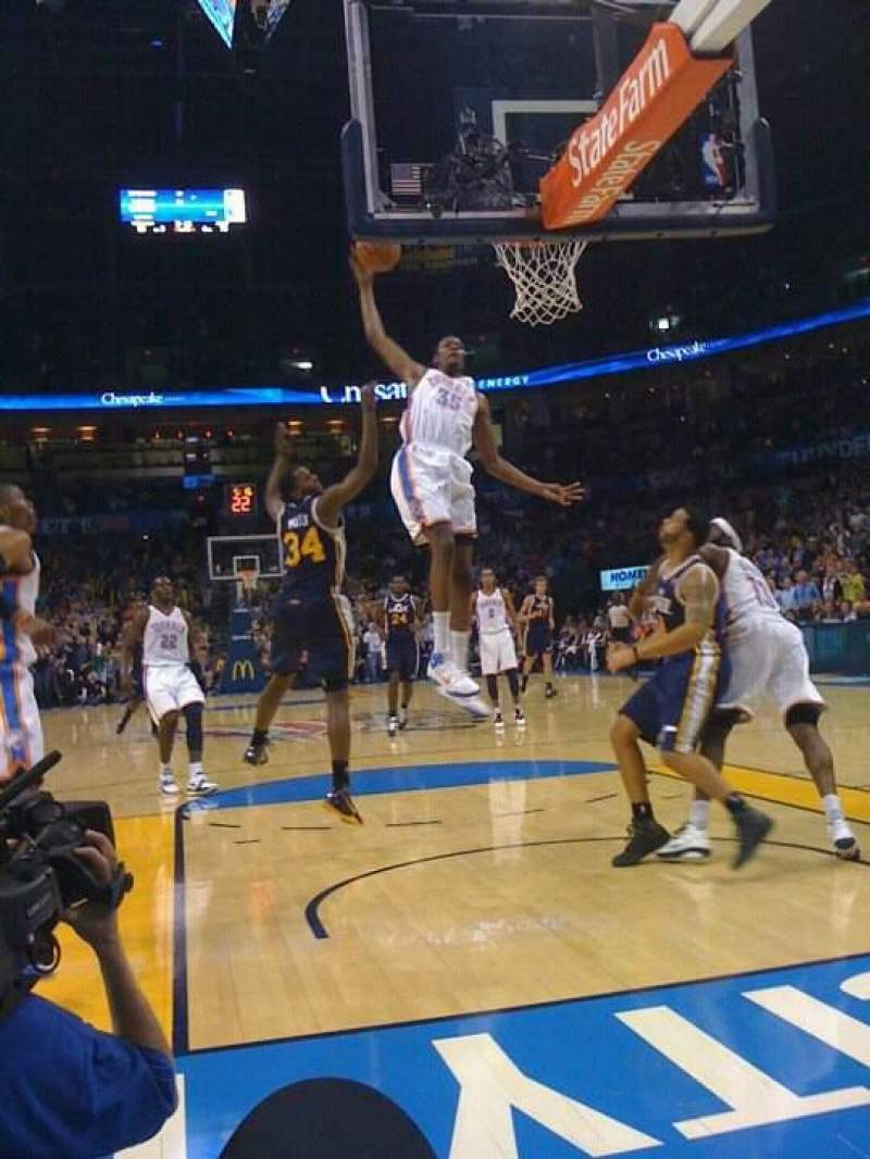 Seating view for Chesapeake Energy Arena Section Court Side