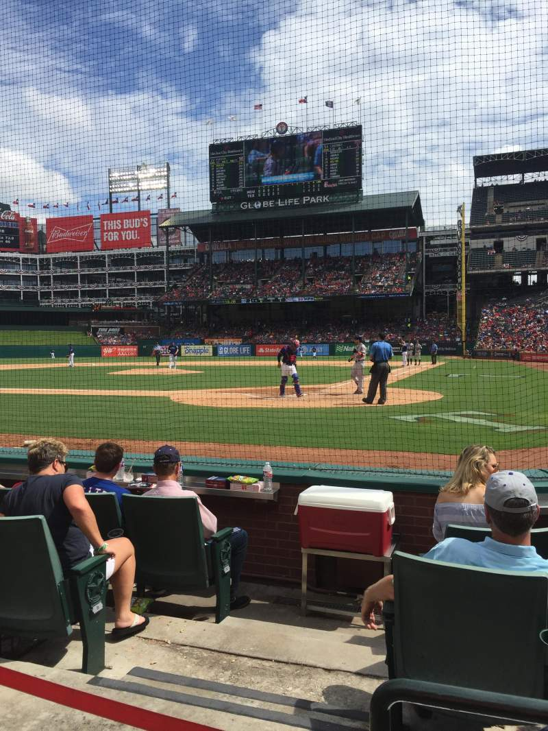 Globe Life Park in Arlington, section: 23, row: 2, seat: 1
