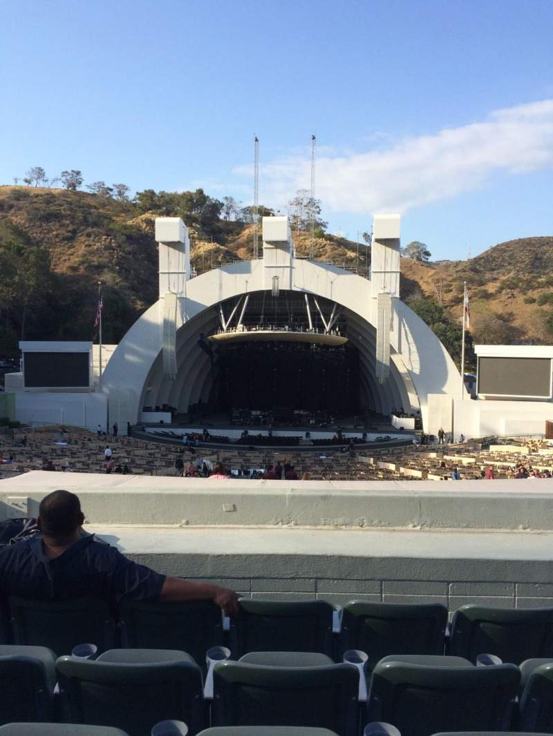 Seating view for Hollywood Bowl Section G1 Row 8 Seat 17