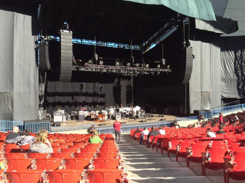 Seating view for Shoreline Amphitheatre Section 103 Row R Seat 1