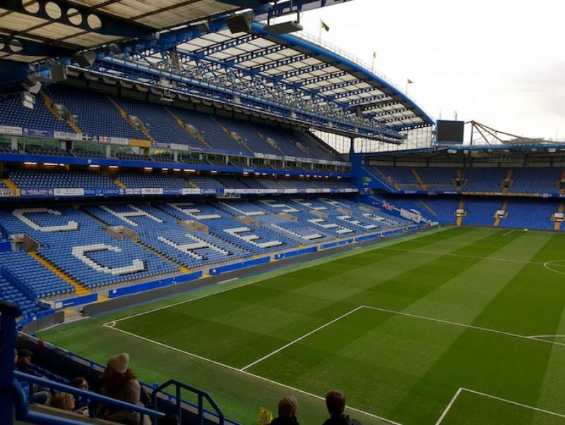 Seating view for Stamford Bridge Section Shed End Upper 5 Row 9 Seat 154