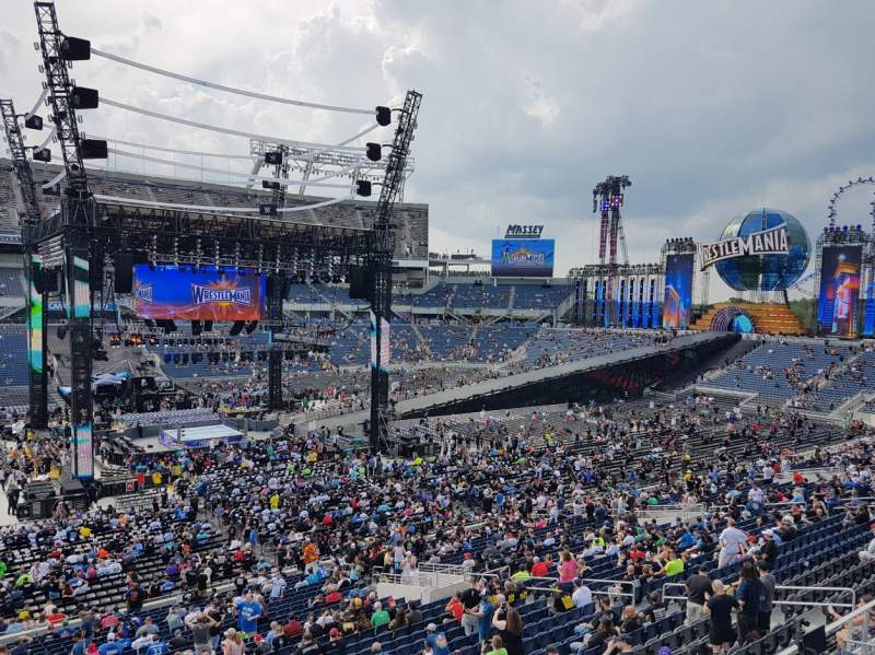 Seating view for Camping World Stadium Section P09 Row H Seat 5