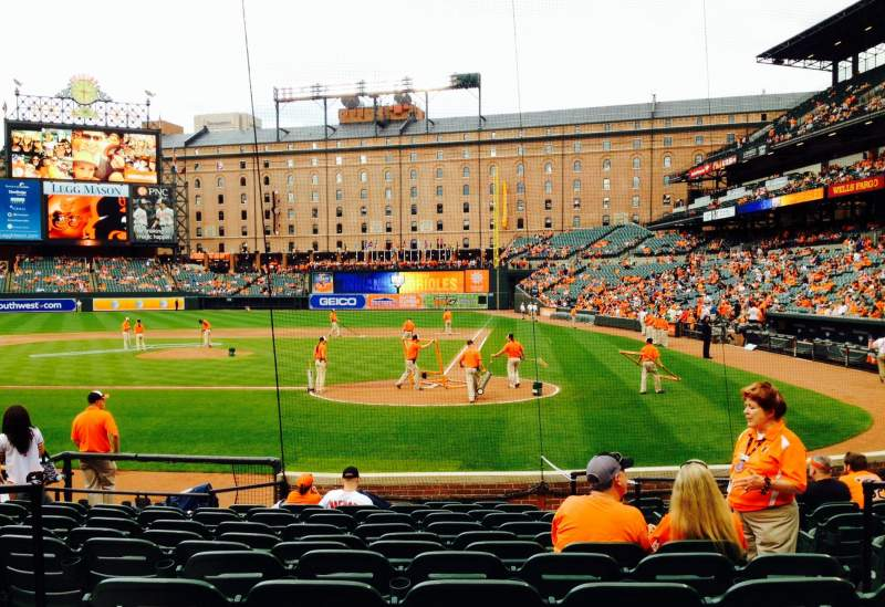 Seating view for Oriole Park at Camden Yards Section 44 Row 13 Seat 5