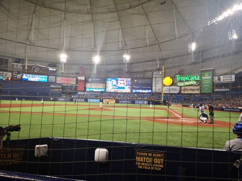 Seating view for Tropicana Field Section 119 Row G Seat 7