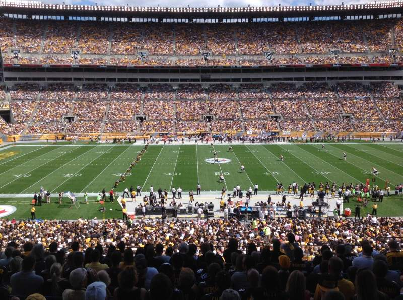Seating view for Heinz Field Section 234 Row M Seat 5