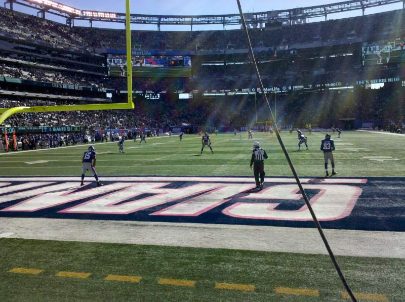Seating view for MetLife Stadium Section 149 Row 1