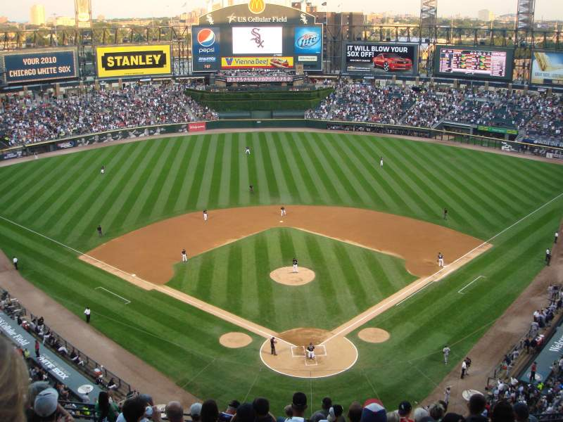 Seating view for Guaranteed Rate Field Section 533 Row 13 Seat 11
