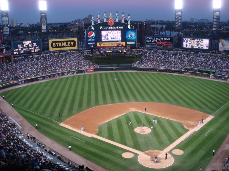 Seating view for Guaranteed Rate Field Section 534 Row 21 Seat 6