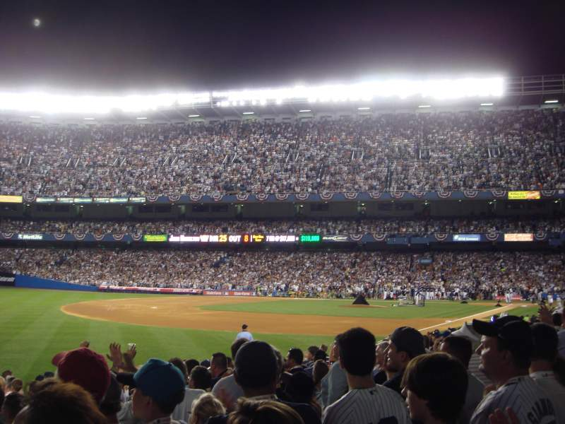 Seating view for Old Yankee Stadium Section Field Box 88 Row J Seat 1