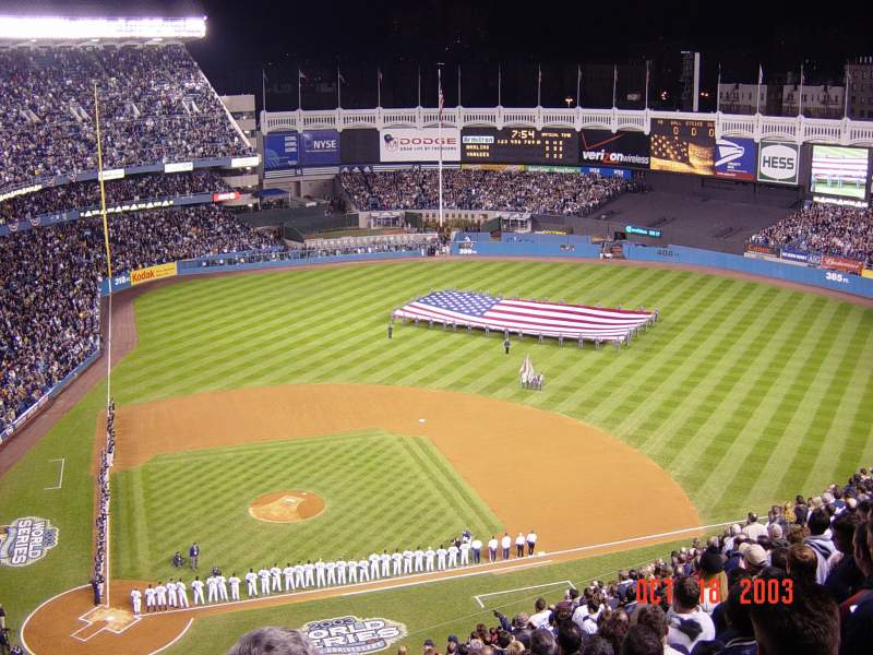 Seating view for Old Yankee Stadium Section U9 Row J Seat 3