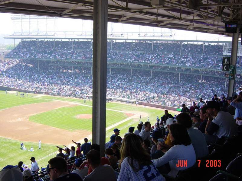 Seating view for Wrigley Field Section 505 Row 7 Seat 10