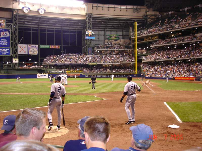 Seating view for Miller Park Section 120 Row 4 Seat 5