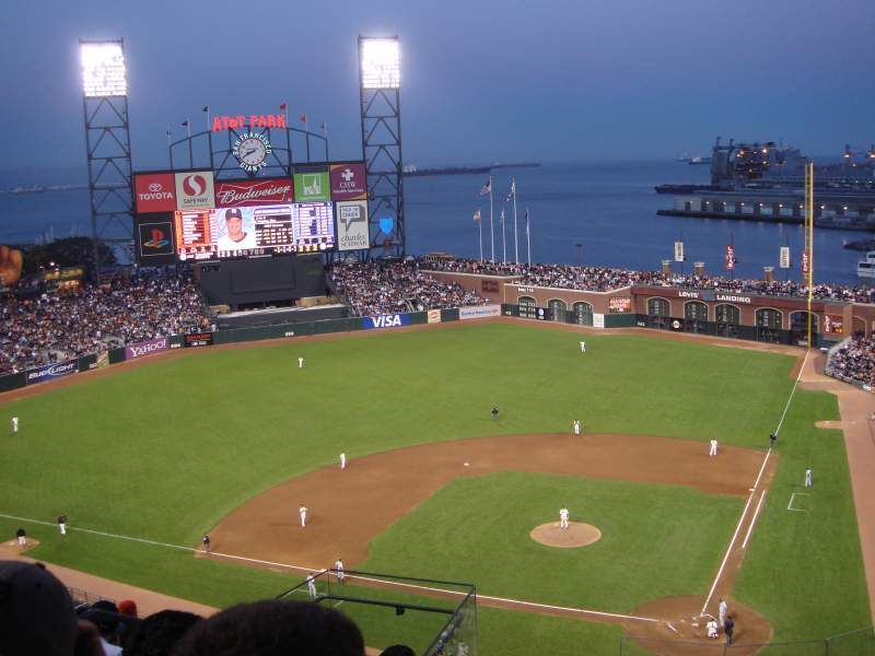 Seating view for AT&T Park Section 319 Row 7 Seat 11