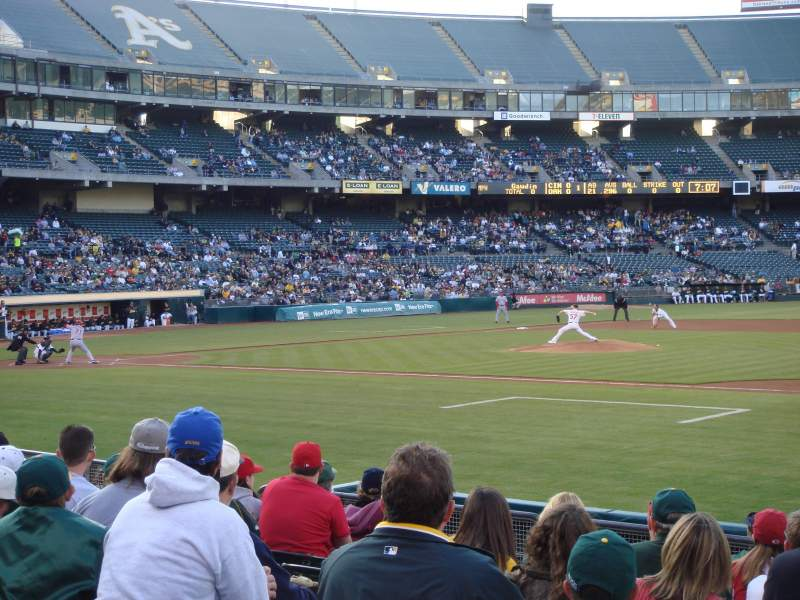 Seating view for Oakland Alameda Coliseum Section 110 Row 11 Seat 13