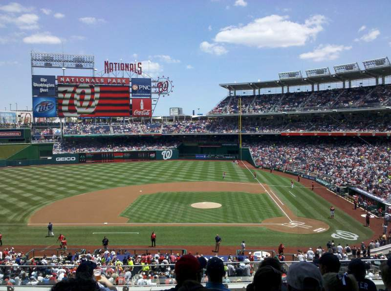Seating view for Nationals Park Section 209 Row F Seat 10