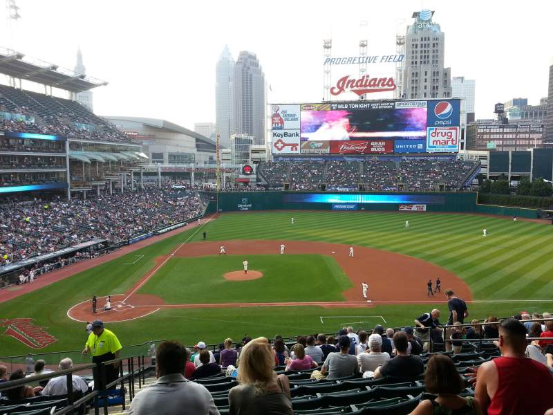 Seating view for Progressive Field Section 346 Row N