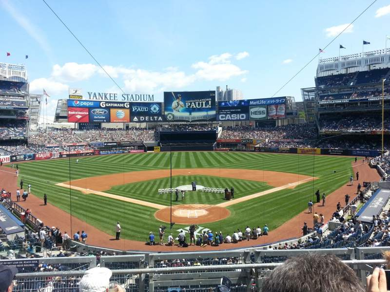 Seating view for Yankee Stadium Section 220B Row 4 Seat 10