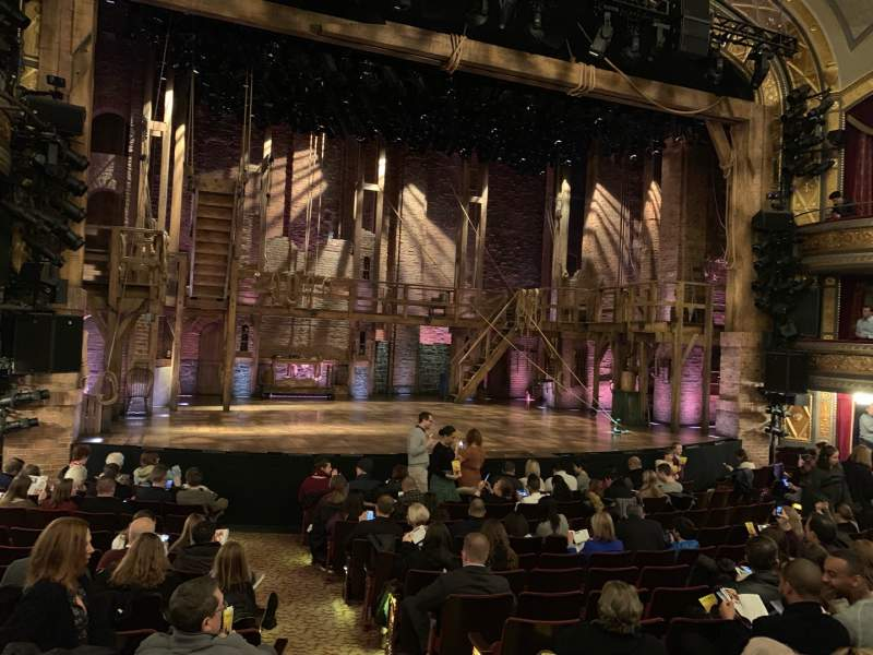 Seating view for Richard Rodgers Theatre Section Orchestra L Row M Seat 3
