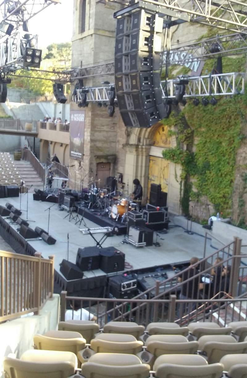 Seating view for Mountain Winery Section 21 Row F Seat 9 and 10