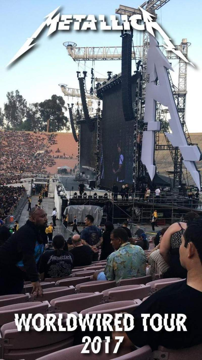 Seating view for Rose Bowl Section 20-H Row 21 Seat 112