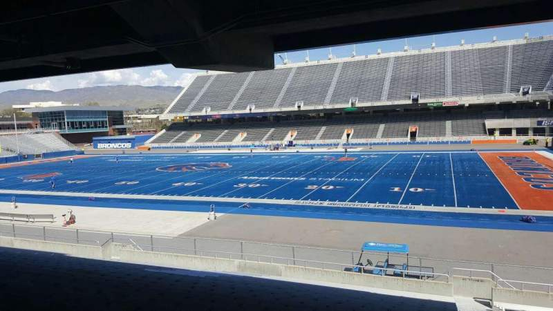 Seating view for Albertsons Stadium Section 6 Row U Seat 1