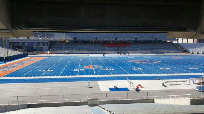 Seating view for Albertsons Stadium Section 25 Row U Seat 1