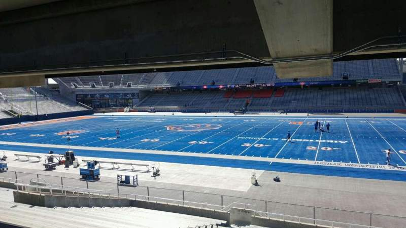 Seating view for Albertsons Stadium Section 21 Row W Seat 18