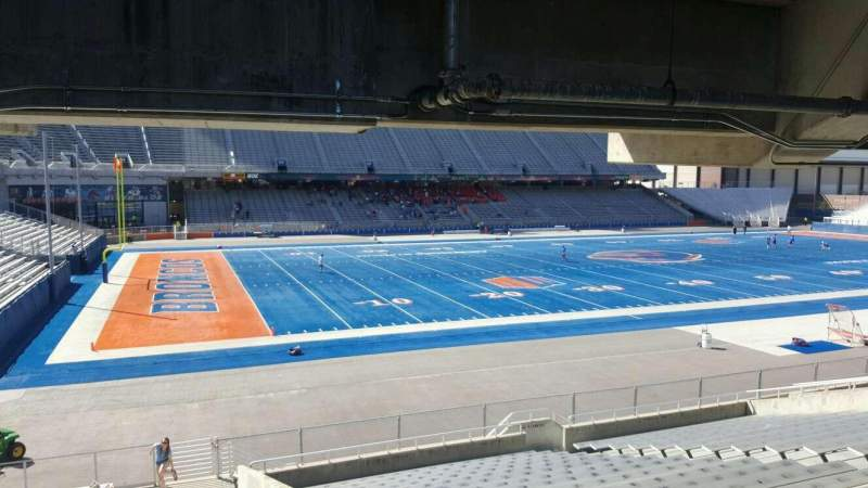 Seating view for Albertsons Stadium Section 26 Row T Seat 20