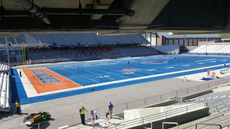 Seating view for Albertsons Stadium Section 27 Row T Seat 6