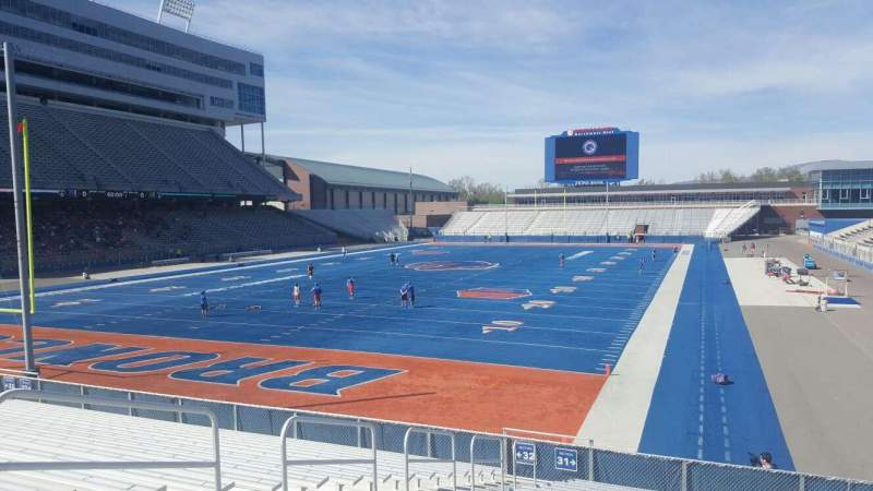 Seating view for Albertsons Stadium Section 31 Row R Seat 12