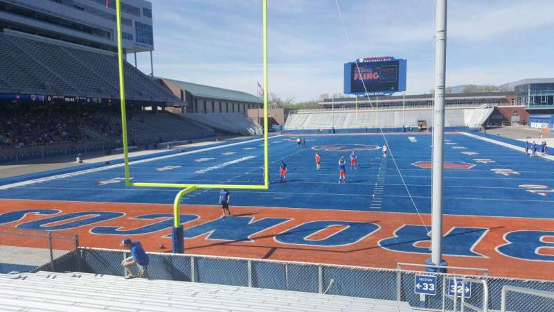 Seating view for Albertsons Stadium Section 33 Row M Seat 1