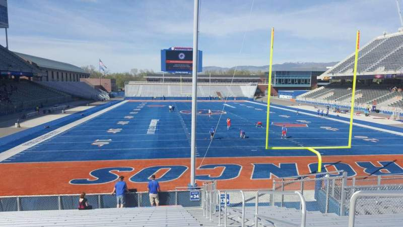 Seating view for Albertsons Stadium Section 34 Row S Seat 1