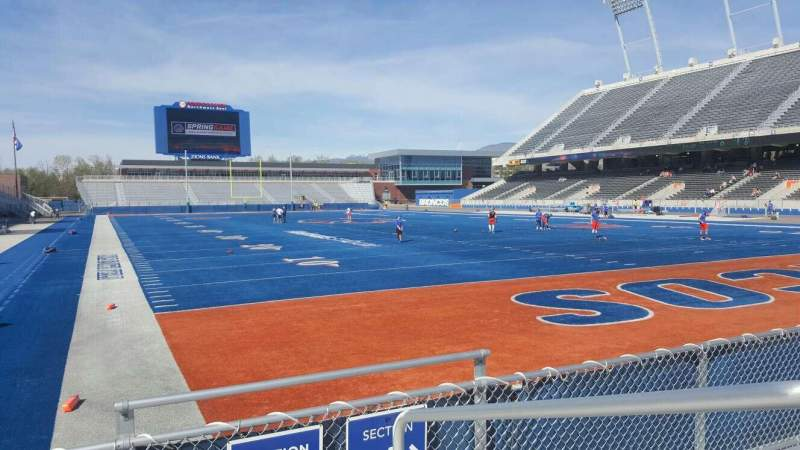 Seating view for Albertsons Stadium Section 35 Row D Seat 1